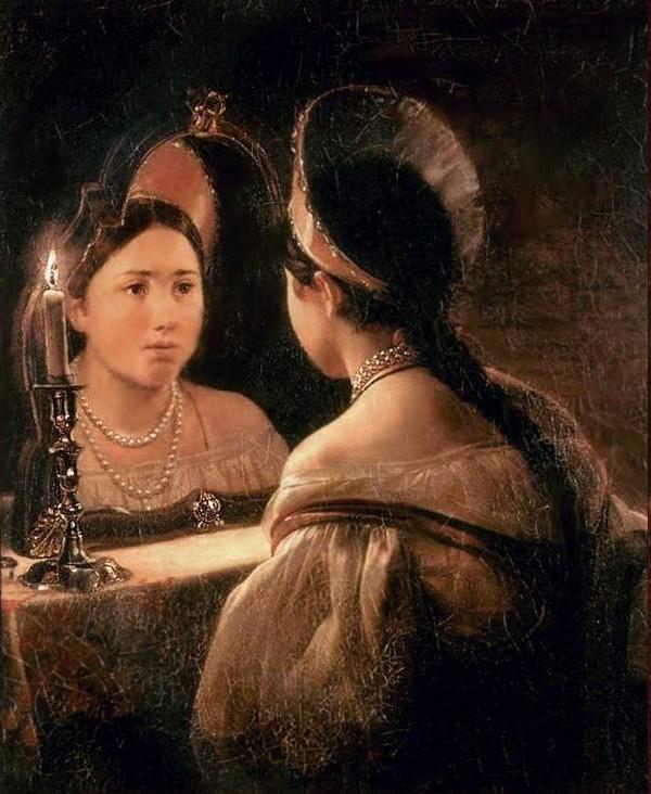 К. Брюллов. Гадающая Светлана, 1835